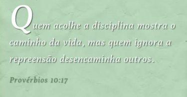 Devocional - Provérbios 10: 17