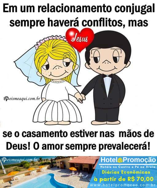 Em um relacionamento conjugal sempre haverá conflitos...