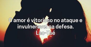 O amor é vitorioso no ataque e…